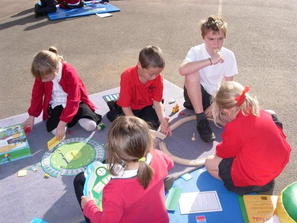 We enjoyed sharing books with Class 2