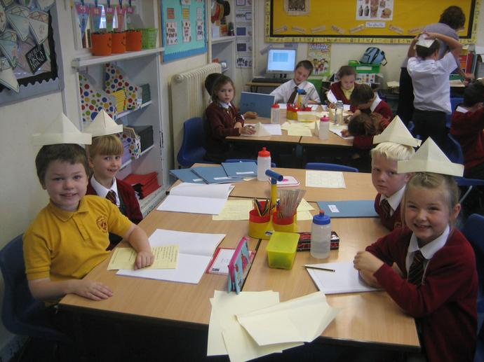 We were all able to make our hats!