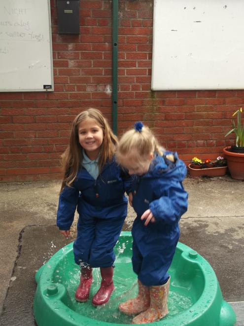 ..So we had to make our own puddles!