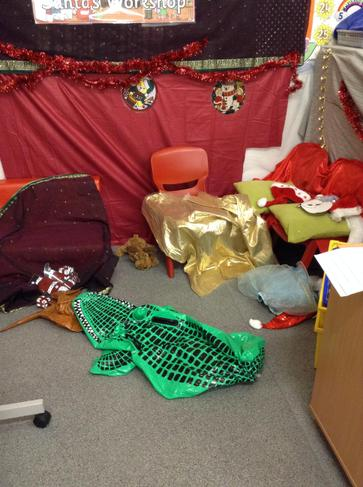 The naughty elf POPPED the inflatables!