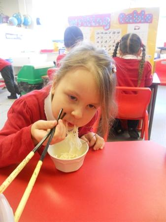 Tasting Noodles On Chinese New Year