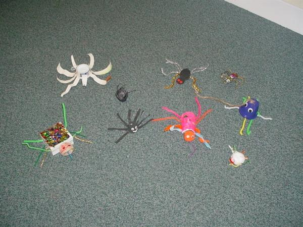 We made our own spiders