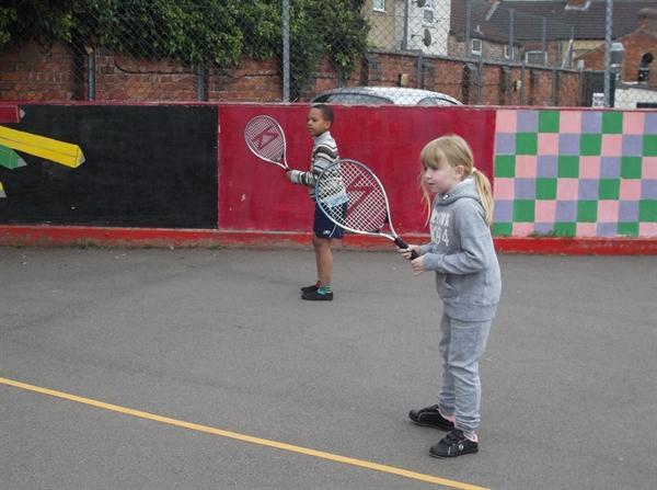 3ZL enjoying tennis