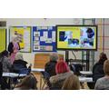 Mrs Jeffery explains about handwriting in school