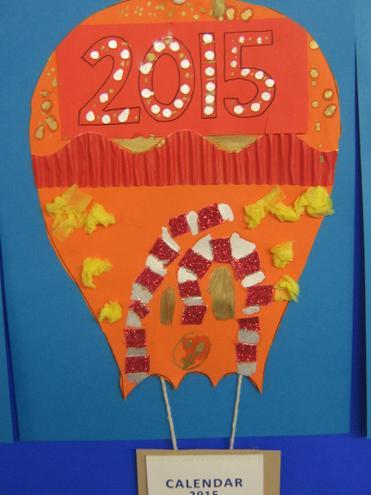 Year 3 & 4 calendar balloons