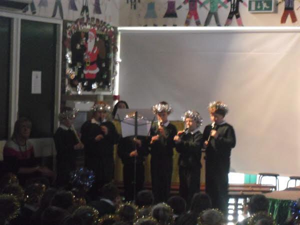 Our young recorder group played beautifully