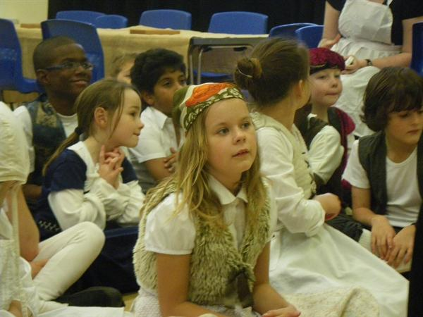 Year 4 enjoying Tudor day.