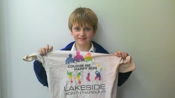 Joseph: Was coloured in the Colour Me Happy Run!