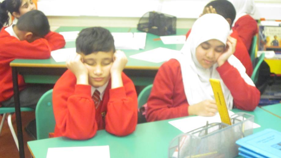 Children imagining their setting.