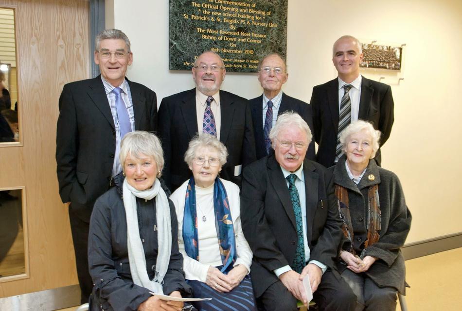 Mr Magee Principal with past Principals & VPs