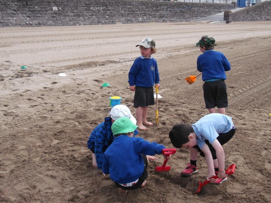 We had great fun making sandcastles!
