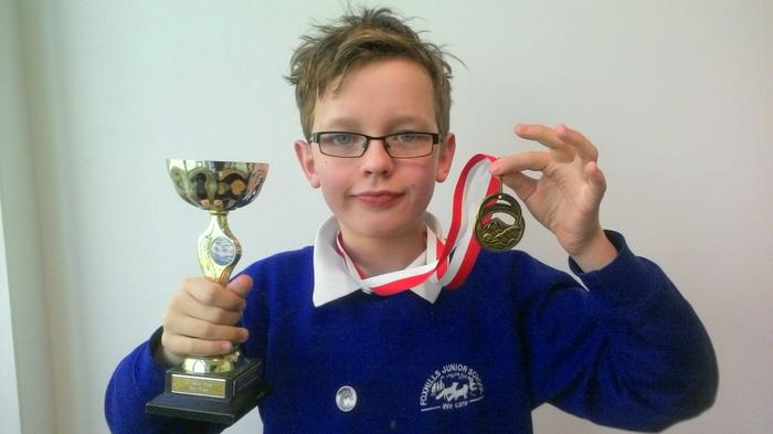 Dylan - 50m freestyle Age 10 WINNER!