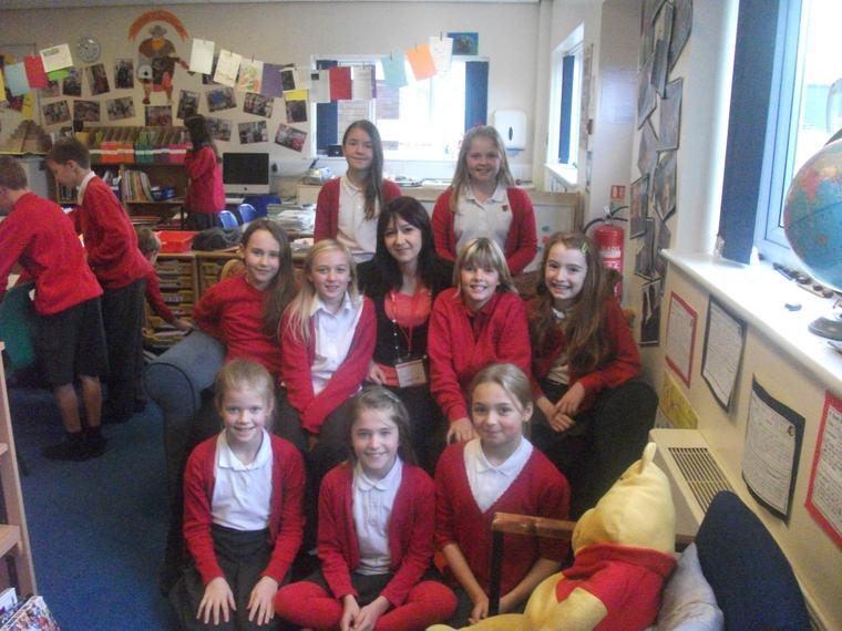 Sophie Morgan gave 9 girls some tips on writing.
