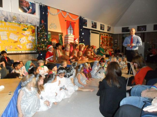 We enjoyed performing in the Christmas show.