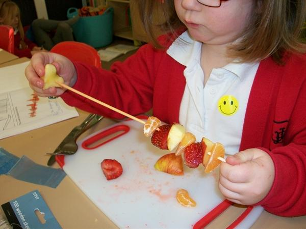 We made a pattern with the fruit!
