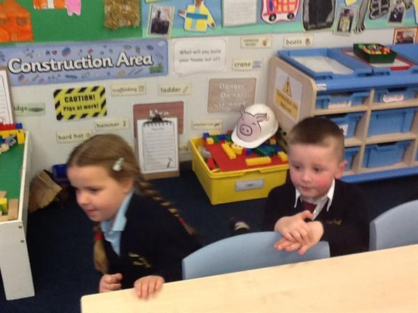 Acting out the story!