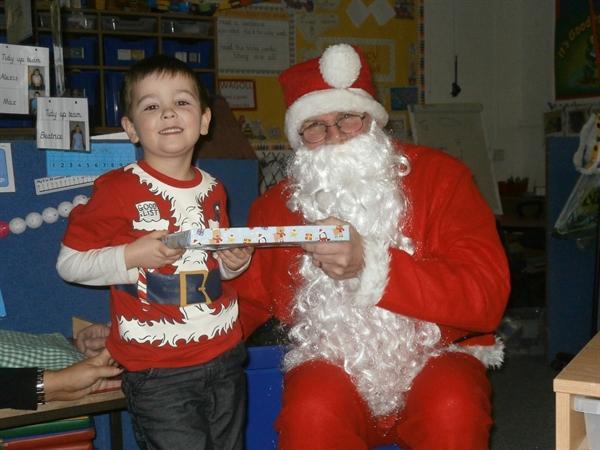 Santa comes to visit
