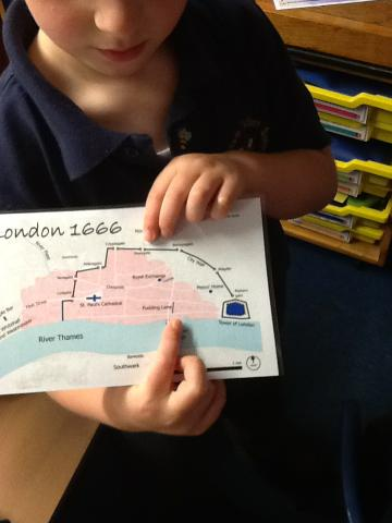 We noticed Pudding Lane was on the map!