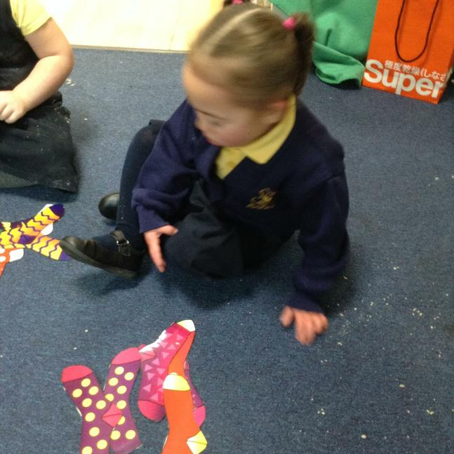 Matching pairs by colour, size and pattern.