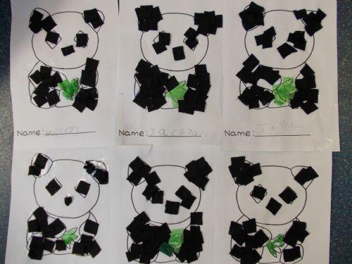 Reception made pandas using different material