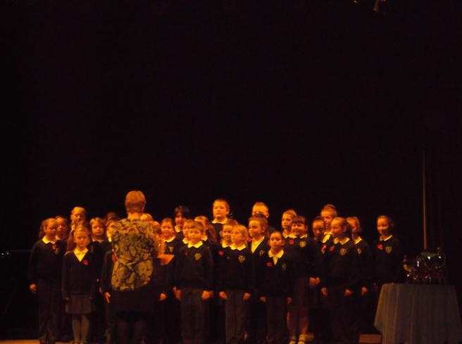 Our choir singing at the Carnegie