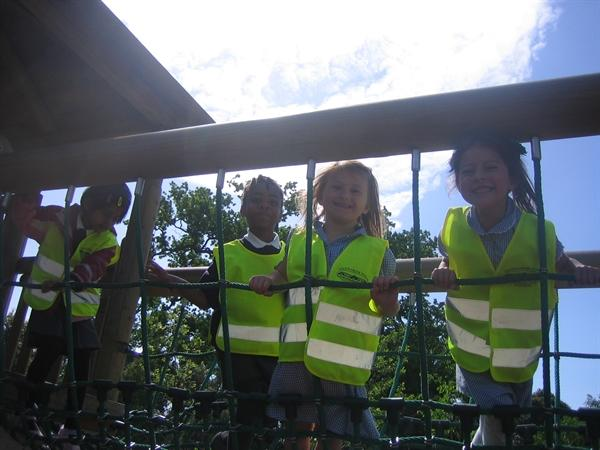 Climbing the treetop houses at Kew Gardens