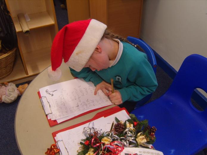 We have been writing poems about christmas time.