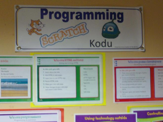 Programming software Scratch and Kodu.