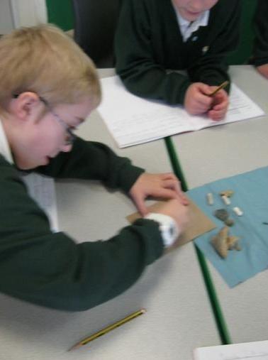 Jay testing properties of rocks :)