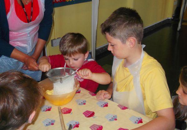 Making Yummy cakes