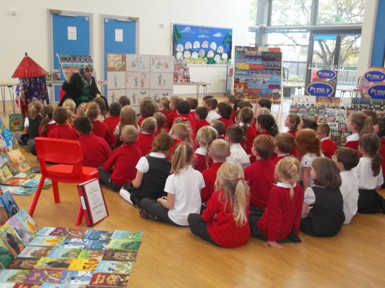 Primary Books came to talk to us all about Japan!