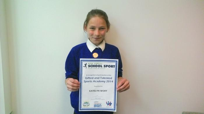 Cailtlin: Member of Gifted & Talented Sport Academ