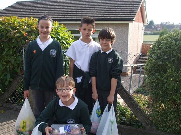 Delivering Harvest food in the community.
