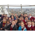 Nearly at the top of the London Eye
