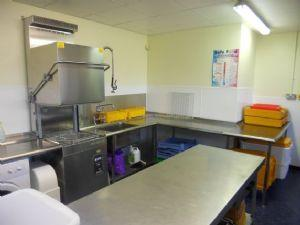 School Kitchen - Mrs Chambers is our Cook