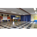 The large hall is used for PE, assemblies and lunchtime.