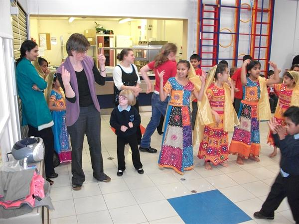 Diwali dancing with St. Barnabus Primary