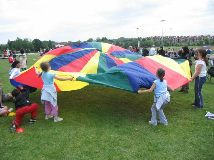 Parachute and singing games (Y1 and 2)