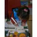 We wrote recipe cards for gingerbread men