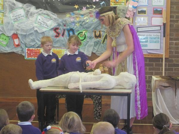 Wrapping the mummy