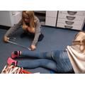 Measuring a 'Heron's' leg!