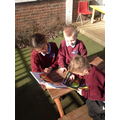 Buddy reading with Eagles in the sunshine