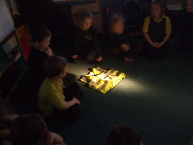 We talked about why we wear reflective clothing.