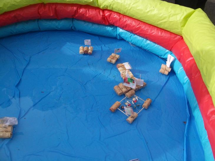 Look our boats float!