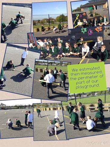 Estimating and measuring parts of our playground