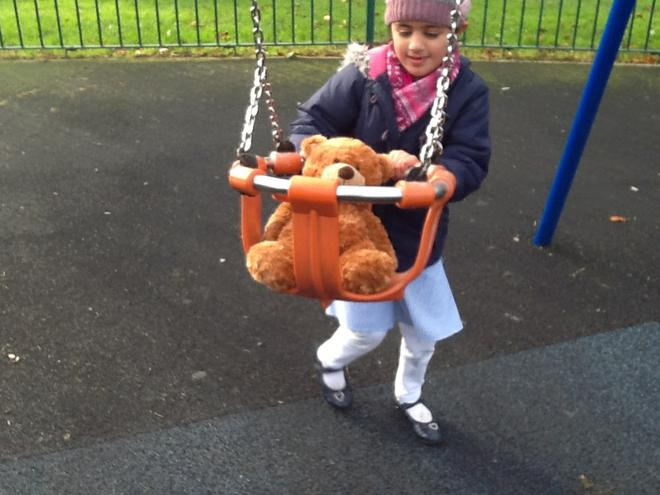 Barnaby Bear at the local park