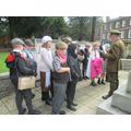 Remembering the fallen at the war memorial