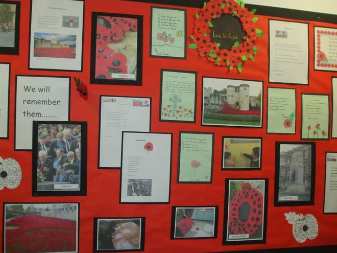 Whole school - remembrance day display