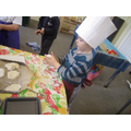 Making bread in nursery.