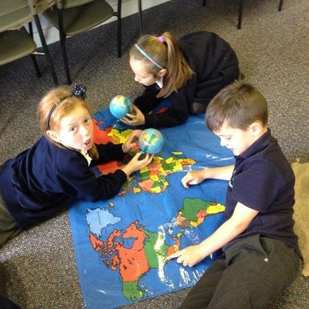 Exploring continents and oceans